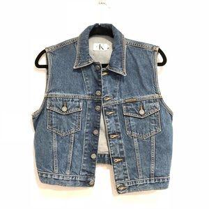 Vintage 90's CK Jeans Stonewashed Denim Vest